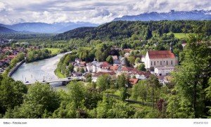 old town of bad toelz - bavaria - germany