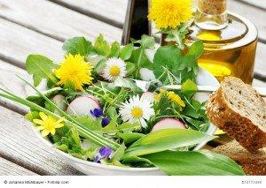 Salat aus Frühlingskräutern
