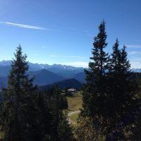 Radfahren und Wandern, Blombergbahn in den Voralpen. Blomberg Bad Tölz