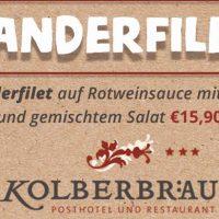 Zanderfilet im Gasthaus Kolberbräu