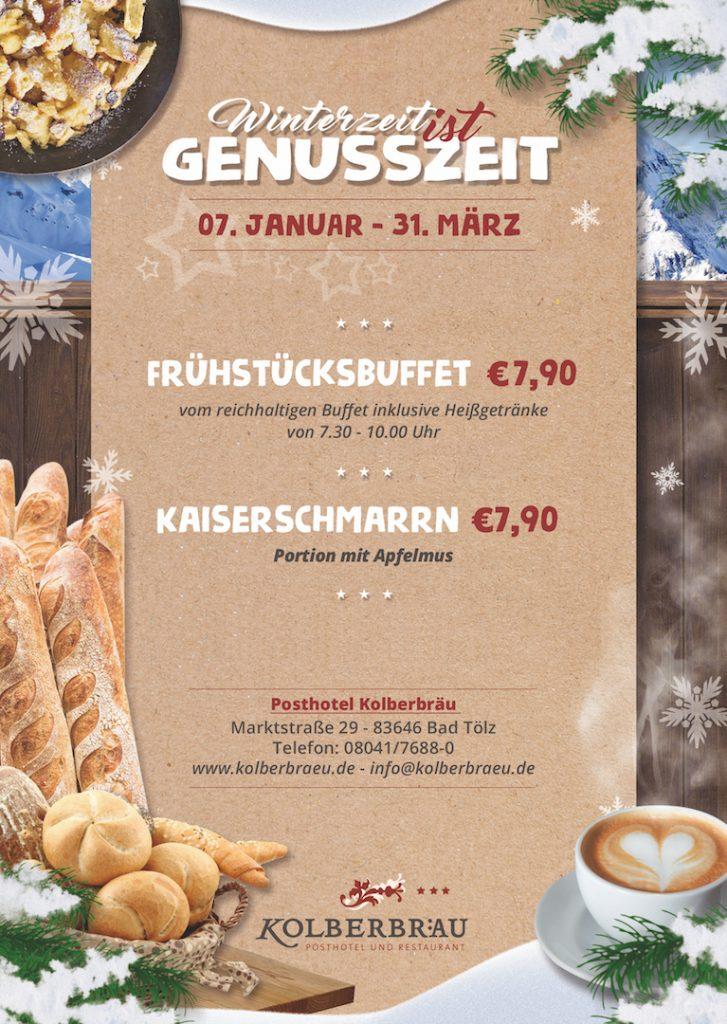 Frühstücken in Bad Tölz: Posthotel Kolberbräu
